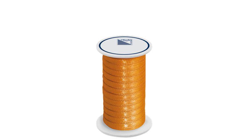 TRUBA Doppelsatinband auf Rolle 3mm x 5m orange