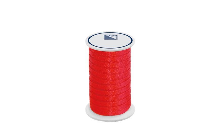 TRUBA Doppelsatinband auf Rolle 3mm x 5m rot