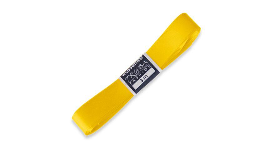 TRUBA Seidenband mit Webkante gelb