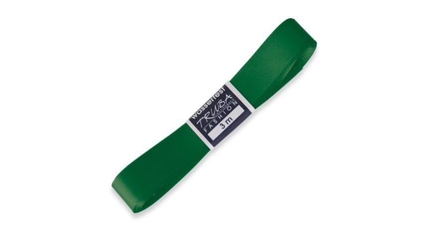 TRUBA Seidenband Trend 15mm x 3m Straengchen tannengruen