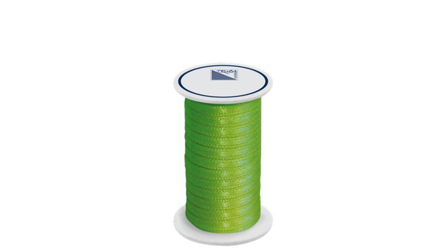 TRUBA Doppelsatinband auf Rolle 3mm x 5m apfelgrün