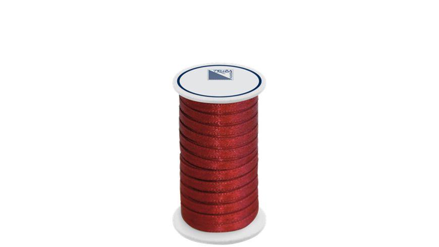 TRUBA Doppelsatinband auf Rolle 3mm x 5m bordeaux