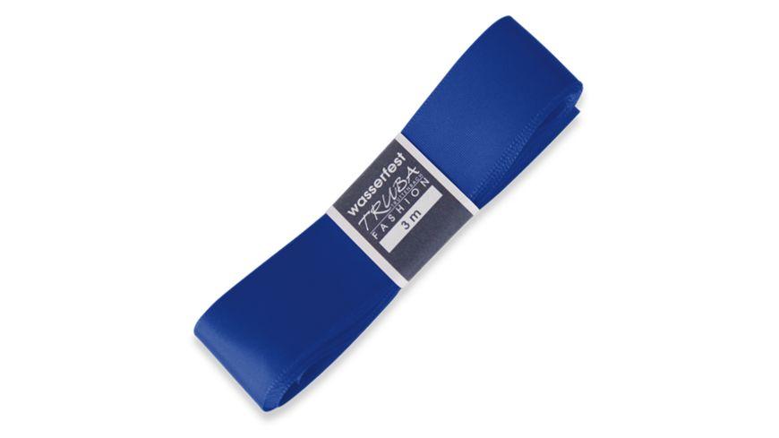 TRUBA Seidenband mit Webkante blau