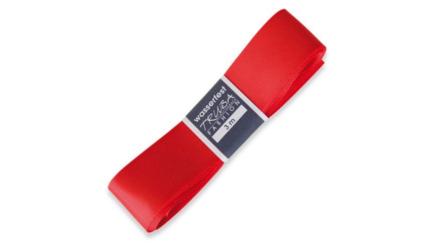 TRUBA Seidenband mit Webkante rot