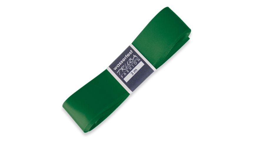 TRUBA Seidenband mit Webkante dunkelgrün