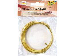 folia Aluminiumdraht gold 2mm x 5m