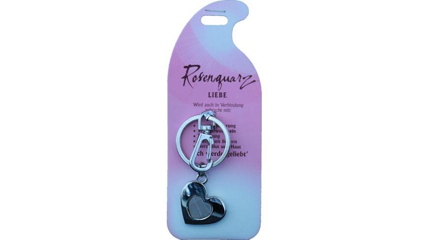 Schlüsselanhänger Liebe - Rosenquarz