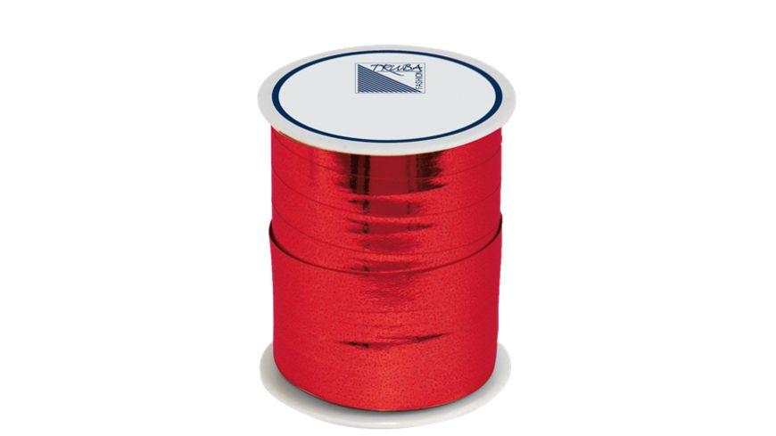TRUBA Spiegelglanzband 10mm x 50m uni rot