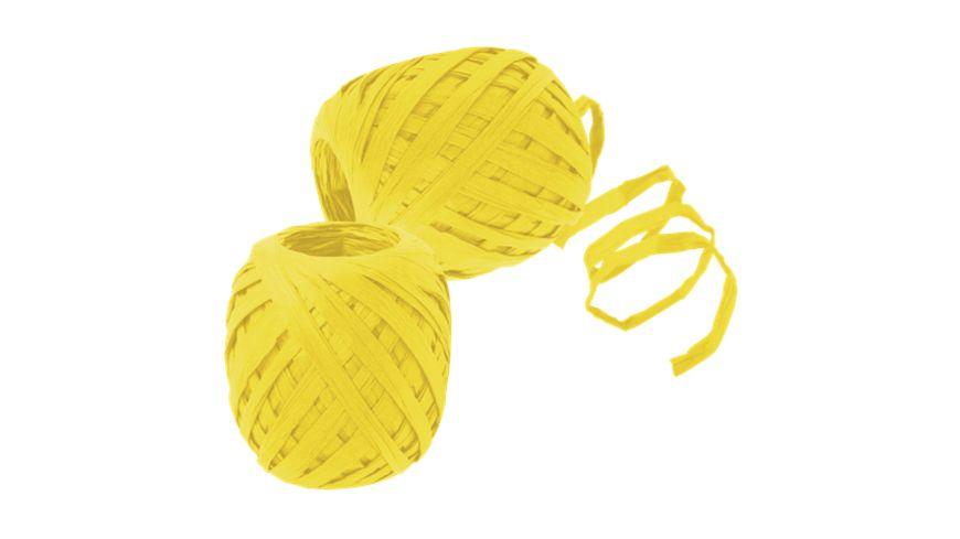 TRUBA Raffia Papierband 7mm x 30m gelb