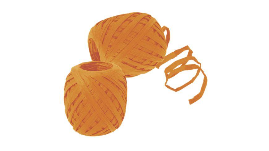 TRUBA Raffia Papierband 7mm x 30m orange