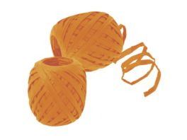 TRUBA Raffia Papierband 7mm x 30m orange