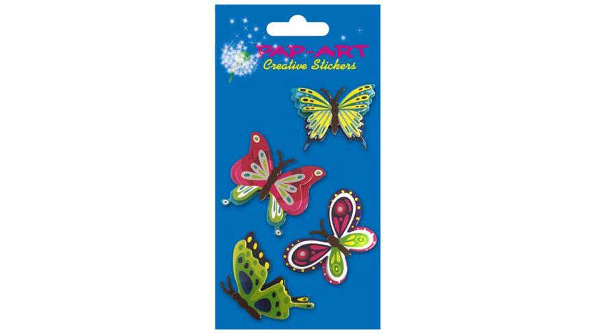 PAP ART Sticker Schmetterlinge 8x12cm