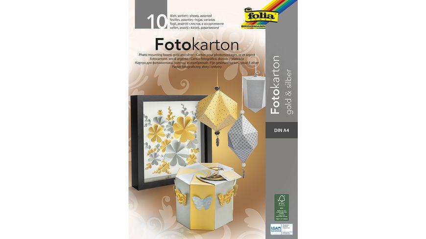 folia Fotokartonblock A4 gold/silber