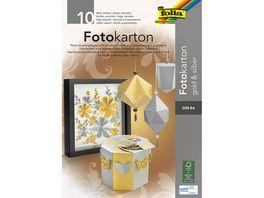 folia Fotokartonblock A4 gold silber