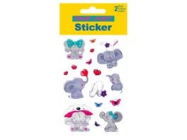 PAP ART Sticker Glitter Elefant