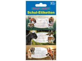 PAP ART Schulbuch Etiketten Jungle