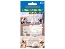 PAP ART Schulbuch Etiketten Hunde Babies