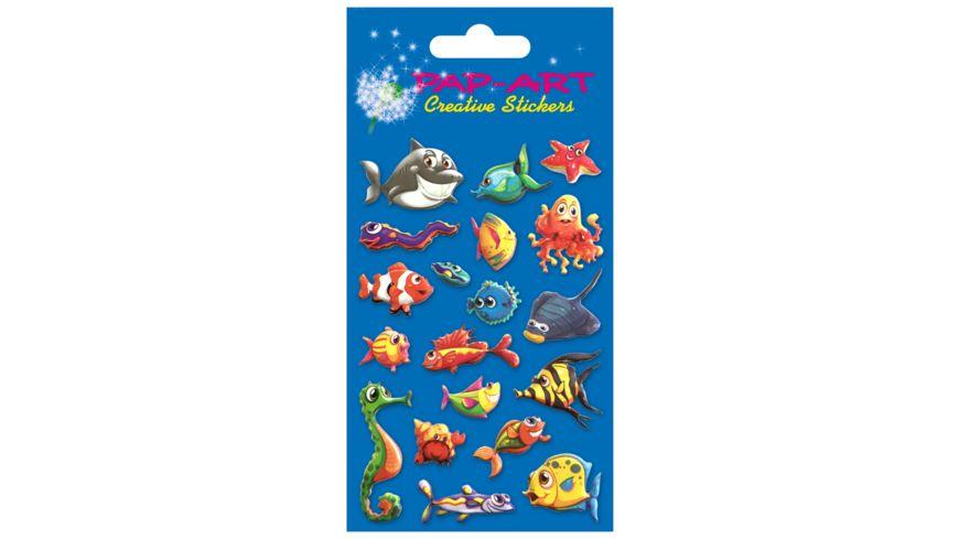PAP-ART Relief-Sticker Fische 8x12cm