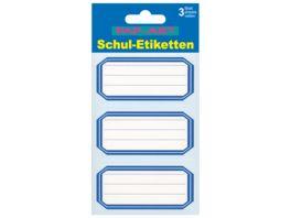 PAP ART Schulbuch Etiketten mit blauem Rand
