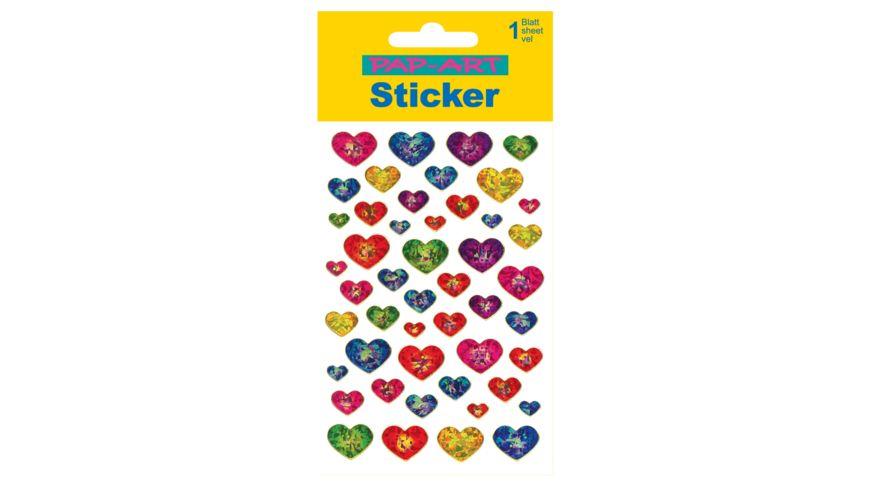 PAP-ART Sticker mit Goldkontur Herzen