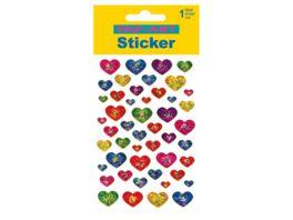 PAP ART Sticker mit Goldkontur Herzen