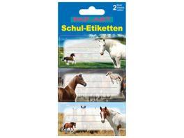 PAP ART Schulbuch Etiketten Glitter Pferde