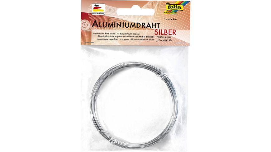 folia Aluminiumdraht silber 1mm x 5m