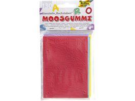 folia Moosgummi Stanzteile 130 Buchstaben farblich sortiert
