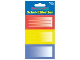 PAP ART Schulbuch Etiketten Multicolor