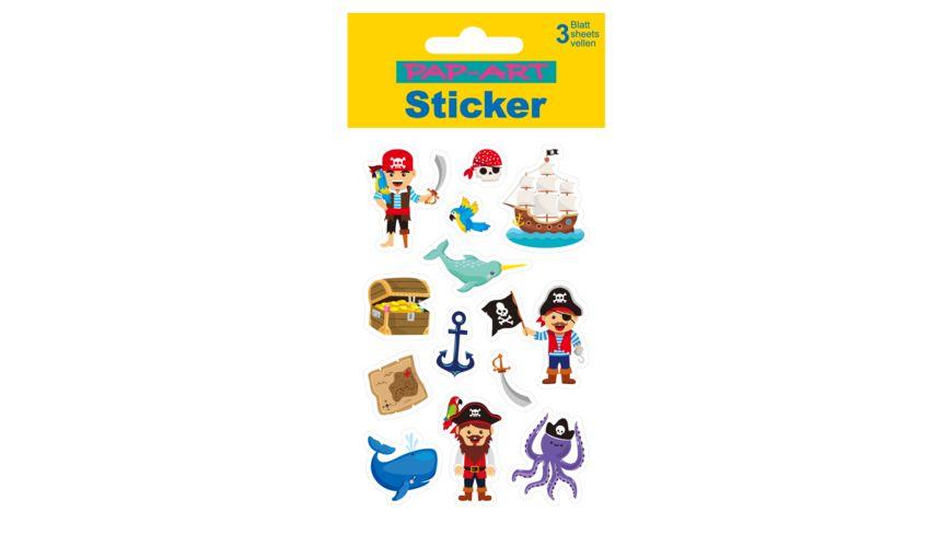 PAP ART Sticker mit Goldkontur Piraten