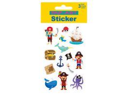 PAP ART Sticker Piraten Papier