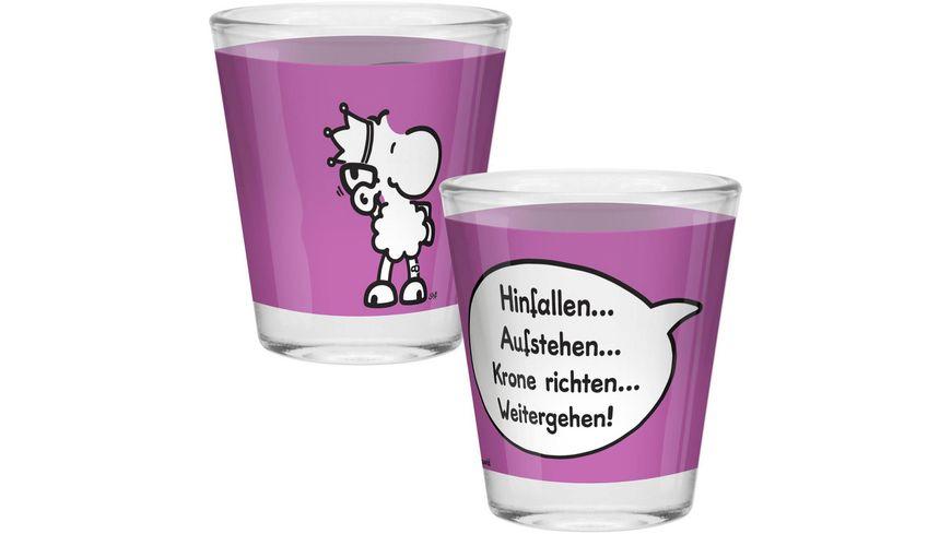 sheepworld Schnapsglas »Krone«