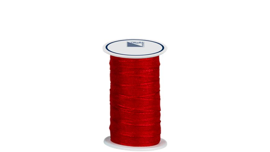 TRUBA Chiffonband mit Webkante 7mm x 5m rot