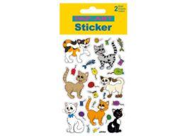 PAP ART Sticker Glitter Katzen