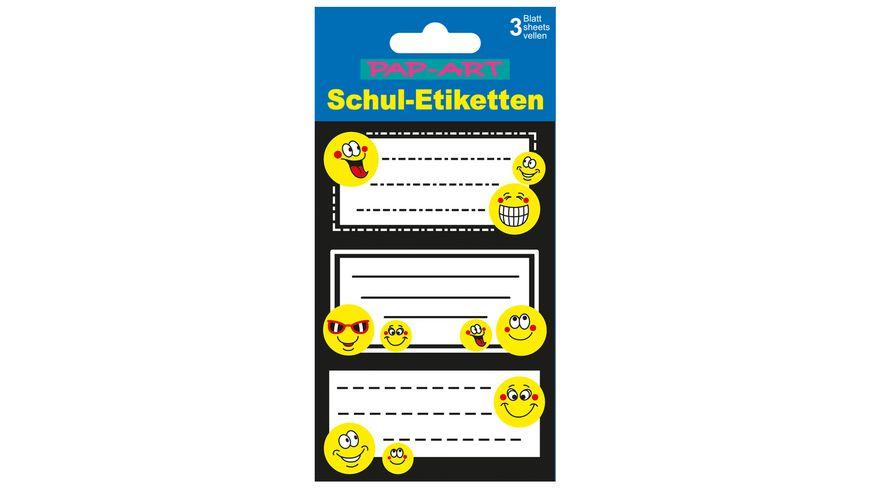 PAP ART Schulbuch Etiketten Smiley