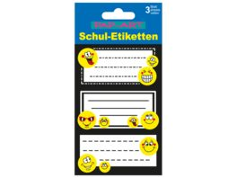 PAP ART Schulbuch Etiketten Smiley