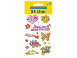 PAP ART Sticker Glitter Glueckwunsch