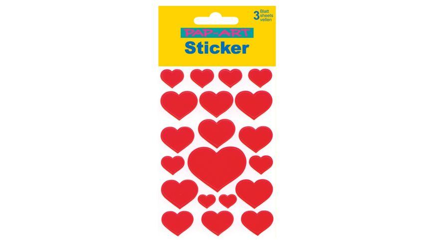 PAP ART Sticker Herzen rot