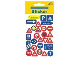 PAP ART Sticker mit Goldkontur Verkehrsschilder