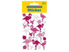 PAP ART Sticker Flamingo Glitzerfolie Hologrammfolie Laserfolie