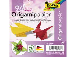 folia Faltblaetter Origami 96 Blatt 10 x 10cm