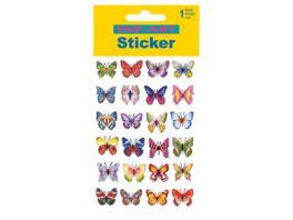 PAP ART Sticker mit Silberkontur Schmetterlinge