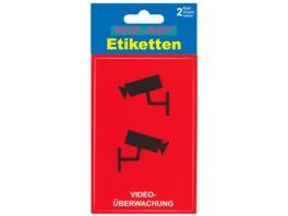 PAP ART Etikett Videoueberwachung