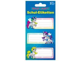 PAP ART Schulbuch Etiketten Einhorn