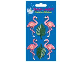 PAP ART Handmade Sticker Flamingos