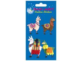 PAP ART Handmade Sticker Lamas