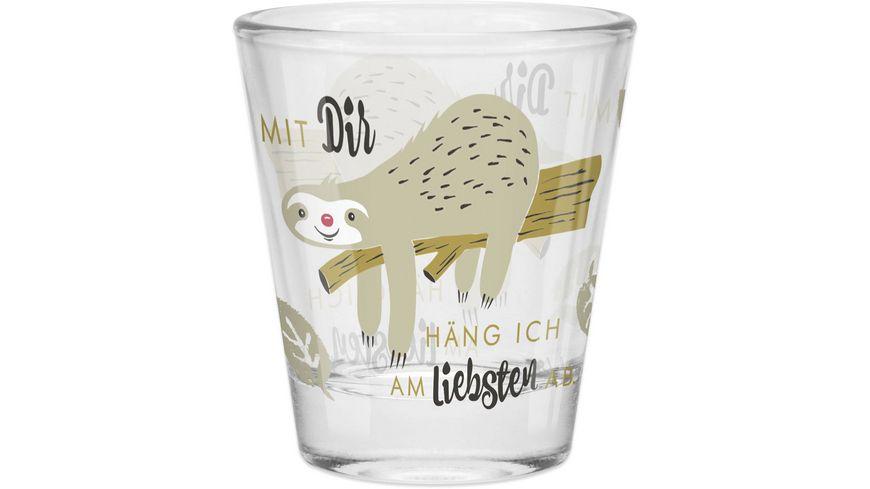 H:)PPYlife Schnapsglas »Faultier«
