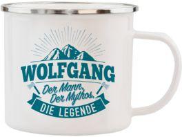 H H Echter Kerl Emaille Becher Wolfgang