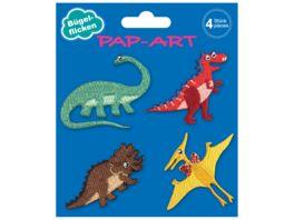 PAP ART Flicken Dinosaurier 4Stueck