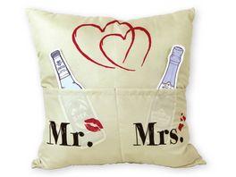 HERGO Kissen Sofahelden Mr Mrs
